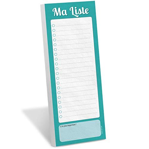 WHINAT ⭐ BLOC NOTE FRIGO MAGNETIQUE ⭐ To Do list / Liste de shopping & courses aimantée à mettre sur son frigo pour s'organiser, planifier, gagner du temps et ne plus rien n'oublier !