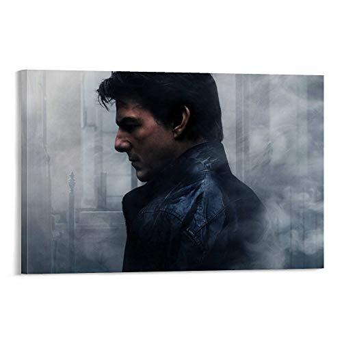 DRAGON VINES Póster de Misión Impossible Rogue Nation Ethan Hunt Tom Cruise Syndicate en lienzo para sala de estar o dormitorio, 50 x 75 cm