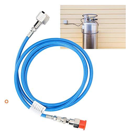 CHICIRIS Manguera de Soda, Manguera de Soda de CO2 Resistente a Alta presión, Sello Azul Resistente a la corrosión Resistente al Desgaste para Agua de refrescos de máquina de refrescos