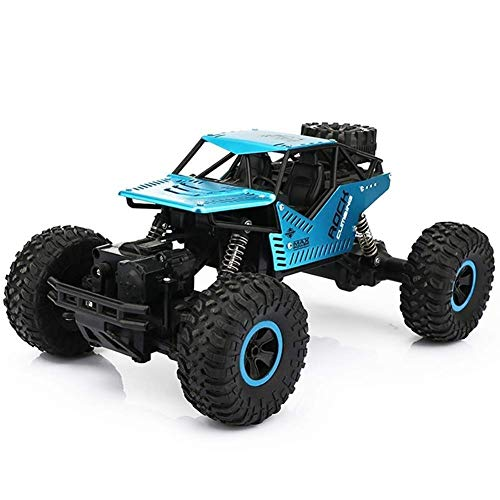 Decoración de escritorio 4WD pie grande RC camión azul del cuerpo de...
