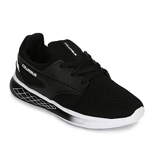 Columbus Army Black Mesh Running Sports Shoes