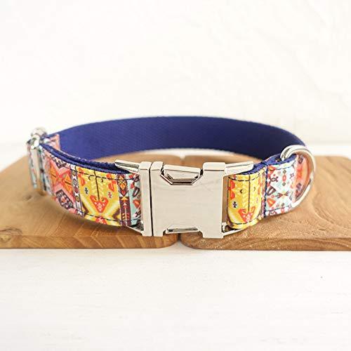 Gulunmun Klassische Halsbänder Einfache Design Hund Ring Metalllegierung Schnalle Zugkragen Original Ethnischen Stil Böhmischen Einziehbaren L (Breite: 2,5 cm Länge: 49-55 cm)