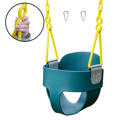 Squirrel Products High Back Full Bucket Toddler Swing with Exclusive Chain &...