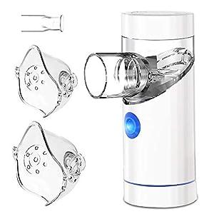immagine di TOPERSUN Aerosol Ultrasuoni Inalatore Nebulizzatore Portatile Inalatore Nebulizzatore Silenzioso- per aerosolterapia