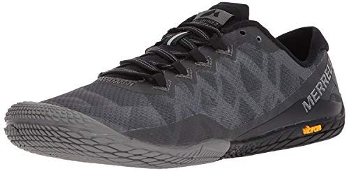 Merrell Women's Vapor Glove 3 Sneaker, Black/Silver, 8.5 M US