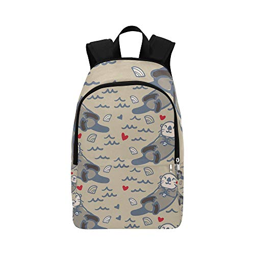 DKGFNK Sports Bags Kawaii Smart Otter Animal Durable Water Resistant Classic Bag Casual for Men Best School Bags Fashion Backpack for Women Bag Men College