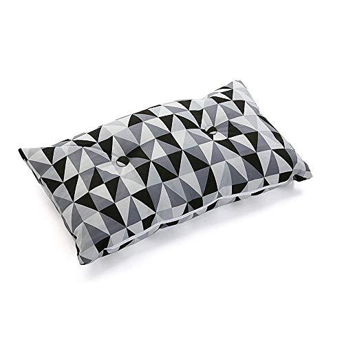 algod/ón-poli/éster Ostaria Coussin rectangulaire 50/x 12/x 30/cm Blanc et Noir Collection Ethnique 1