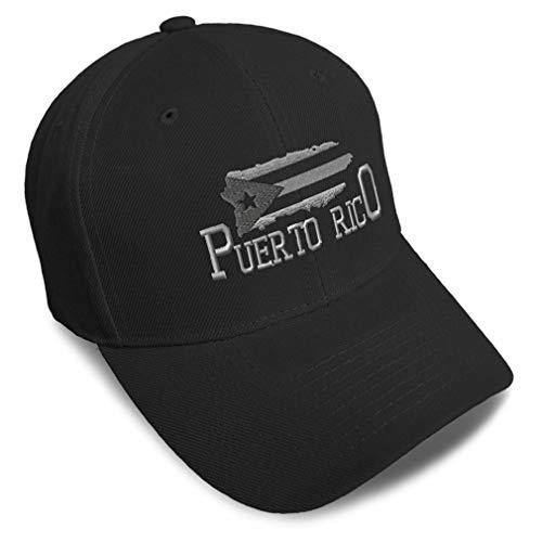 Baseball Cap Puerto Rico Island Map Flag B Embroidery Dad Hats for Men & Women