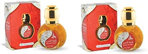 2 x Hamidi Lamsat Al Hareer Concentrated Perfume Oil 15 ml Free From Alcohol Attar for Men and Women