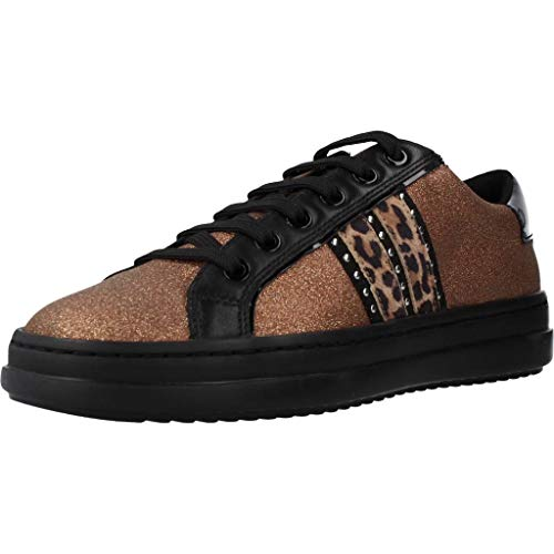 Geox Donna Sneaker PONTOISE, Signora Scarpe Stringate Basse,Lacci,Scarpe da Strada,Sportivo,Elegante,Casuale,Bronze/Tobacco,37 EU / 4 UK