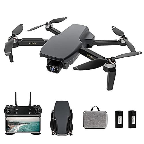 Dron con cámara 4K EIS Dron con cámara UHD para adultos, cuadricóptero GPS fácil para principiantes con 56 minutos de tiempo de vuelo, motor sin escobillas, transmisión FPV de 5 Ghz, retorno automáti