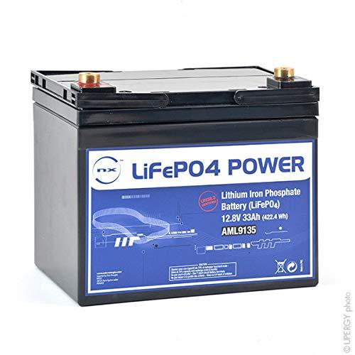 Preisvergleich Produktbild NX - LiFePo4 Akku LiFePO4 Power UN38.3 (409.6Wh) 12V 33Ah M6-F