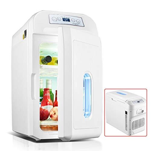 Refrigeradores Mini Grande del Coche del Carro Móvil Pequeño Mini Sistema Doméstico Doble Núcleo, Vertical Y Horizontal (Color : Blanco, Size : 60 * 32 * 42cm)