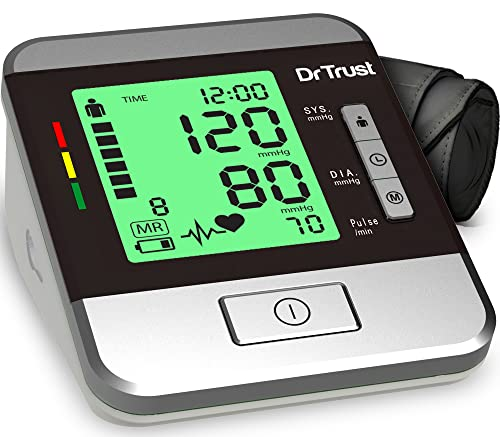 Dr Trust(USA) Goldline Talking Automatic Digital Bp Monitor Machine with MDI technology 3 Color backlight (Includes Adapter, Carry...