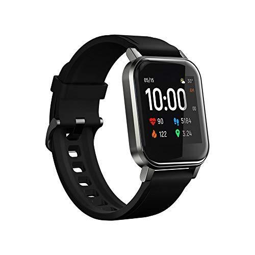HAYLOU LS02 Global Version Smartwatch, Reloj Inteligente Impermeable IP68 Pantalla LCD Pulsera de Actividad Inteligente con Monitor de Sueño Contador de Caloría Pulsómetros Podómetro para Android iOS