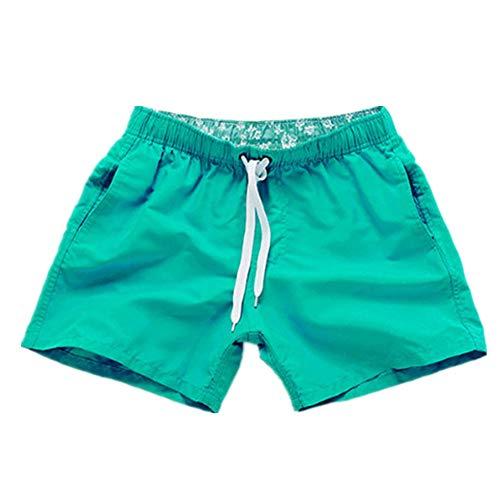 N\P Pantalones de playa de los hombres de verano pantalones cortos de color caramelo impreso tablero Bermudas