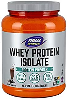 NOW Sports NOW Sports Whey Protein Isolate Powder Chocolate 1.8 lb