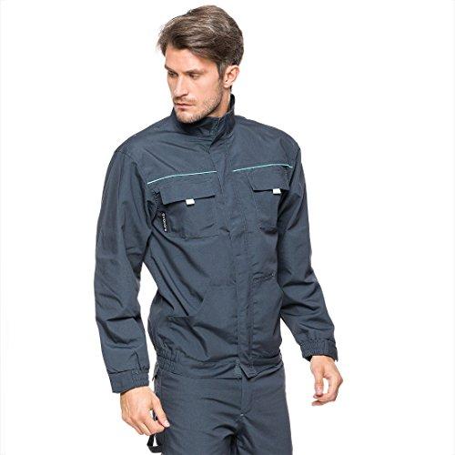 Veiligheidsjack 44-64 Falcon werkjas beschermende jas beroepskleding werkkleding 44 EU Graphiet/turquoise