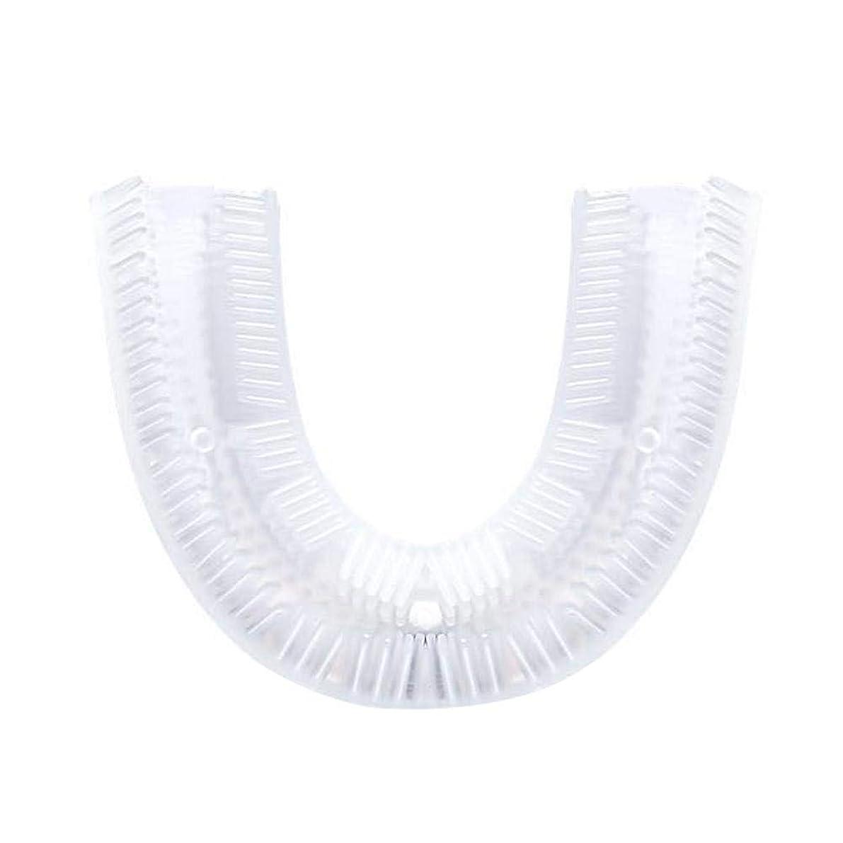 メアリアンジョーンズ溶ける太平洋諸島歯ブラシ電動、U字型シリコン歯ブラシ交換ヘッド、電動歯ブラシクリーニングブラシアクセサリー