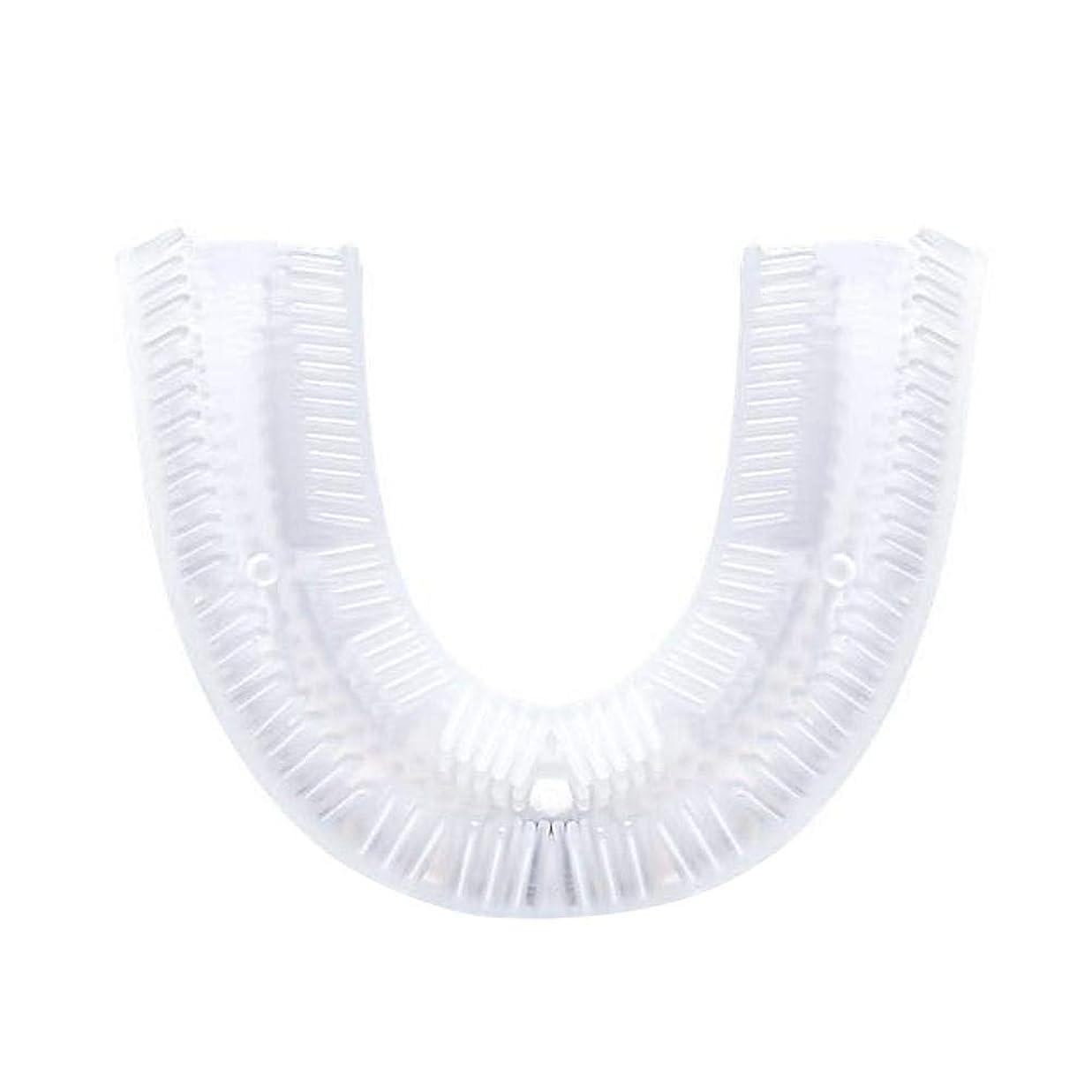 実業家ワーム踊り子歯ブラシ電動、U字型シリコン歯ブラシ交換ヘッド、電動歯ブラシクリーニングブラシアクセサリー