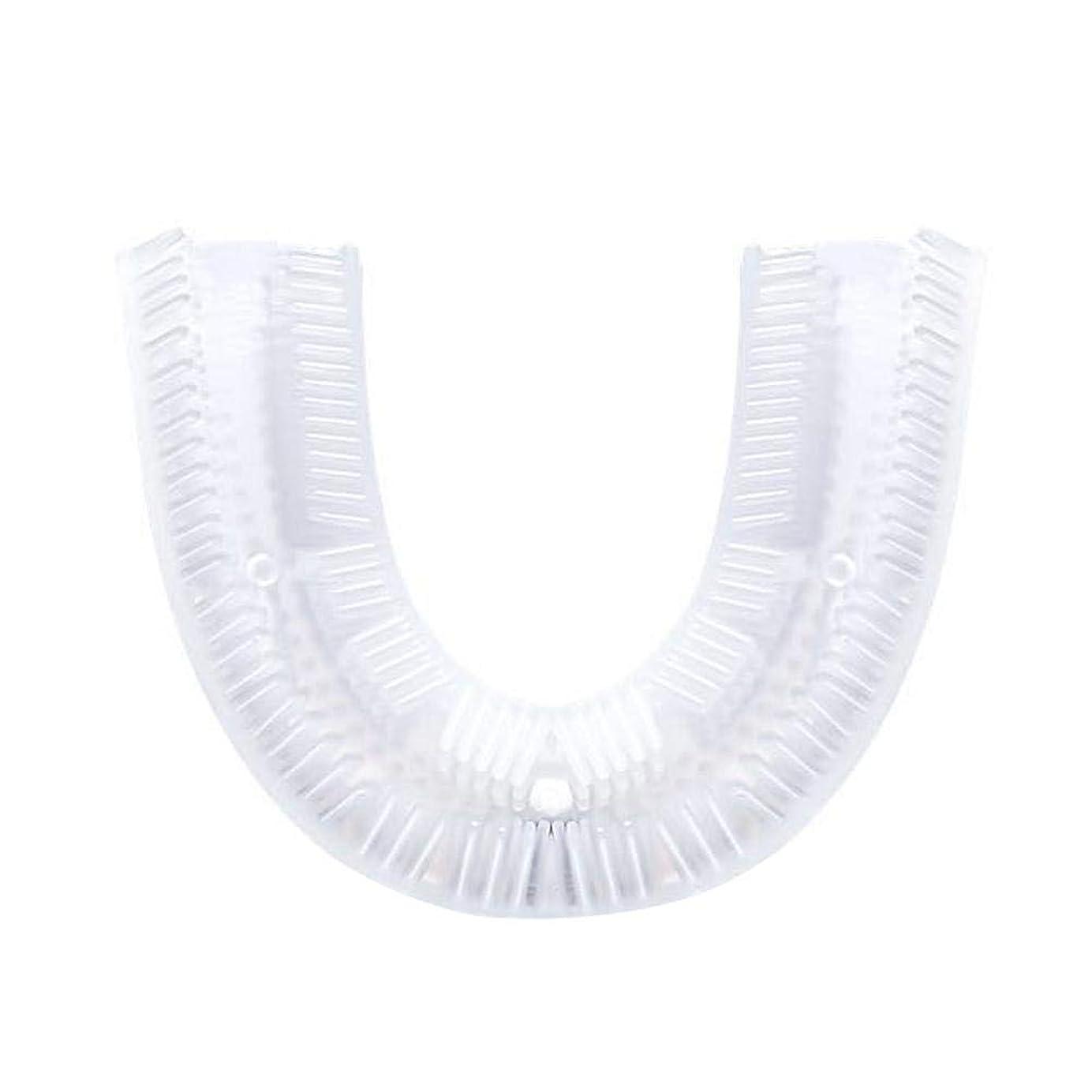 り農村ブラウス歯ブラシ電動、U字型シリコン歯ブラシ交換ヘッド、電動歯ブラシクリーニングブラシアクセサリー