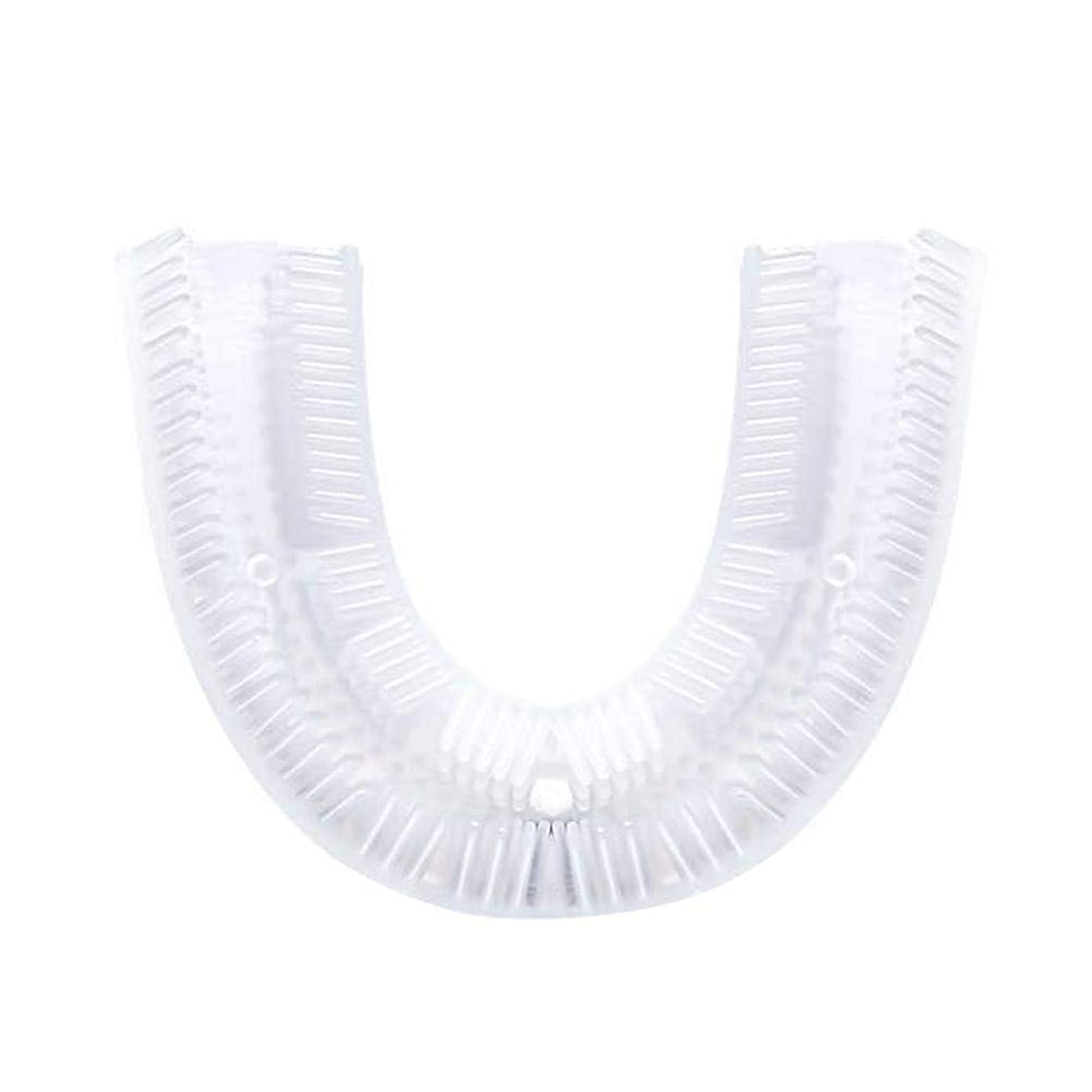 階層締めるコンデンサー360°音波歯ブラシヘッド U字型シリコン歯ブラシヘッド 電動 自動 U型 超音波 怠け者 怠惰 成人 バブル 人間口腔工学 10秒歯磨き 新鮮な息吹き 歯垢除去 歯茎まで 無線充電 U字型のマウスピース 抗菌シリコン製歯ブラシヘッド