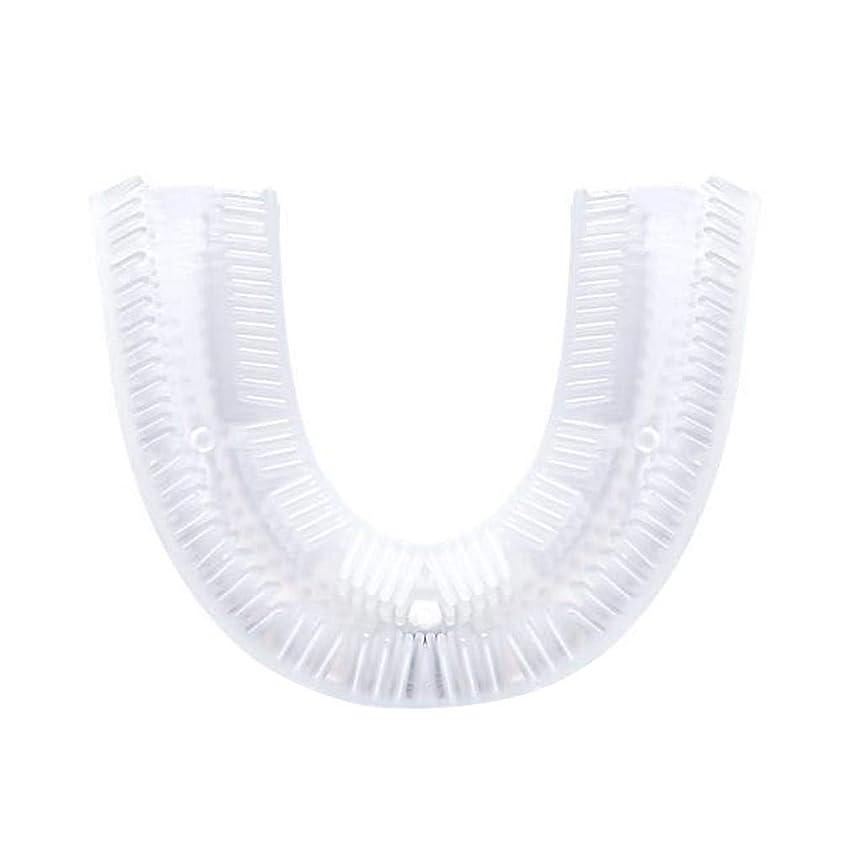 異常セメントコットン歯ブラシ電動、U字型シリコン歯ブラシ交換ヘッド、電動歯ブラシクリーニングブラシアクセサリー