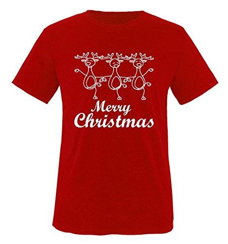 Comedy Shirts Danse Fin Rennes – Christmas – T-Shirt pour Enfant Taille 86 à 164 Plusieurs Coloris - - XL