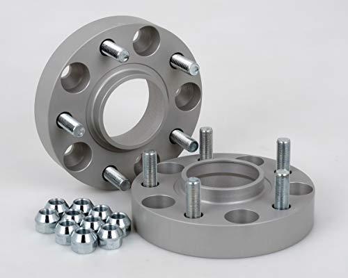 Separadores de acoplamiento de aluminio, 2 unidades (25 mm por disco/50 mm por eje), incluye Con certificado TÜV.