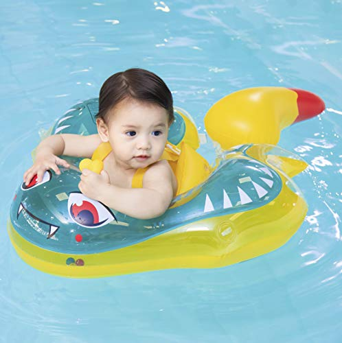 Myir JUN Flotadores para Bebes, Flotadores Bebes Pez Diablo Inflable Flotador Ajustable Inflable Doble Airbag Flotador para Bebes Flotadores Piscina para 3 Meses-3 Años (L)