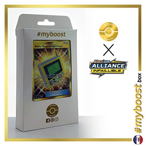 Radar Électromagnétique (Electromagnetic Radar) 230/214 Shiny Traner - #myboost X Soleil & Lune 10 Alliance Infaillible - Doos met 10 Franse Pokemon kaarten
