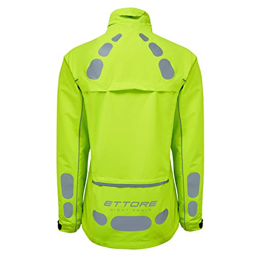 41mGzWy67mL. SS500  - Ettore Ladies Cycling Jacket Waterproof Breathable High Visibility Yellow - Night Eagle