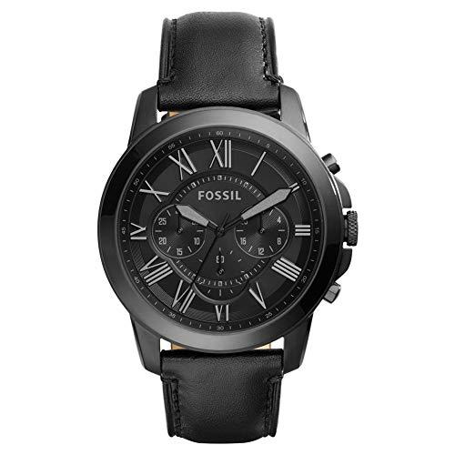 Fossil Mens Chronograaf Quartz Horloge met Lederen Band FS5132IE