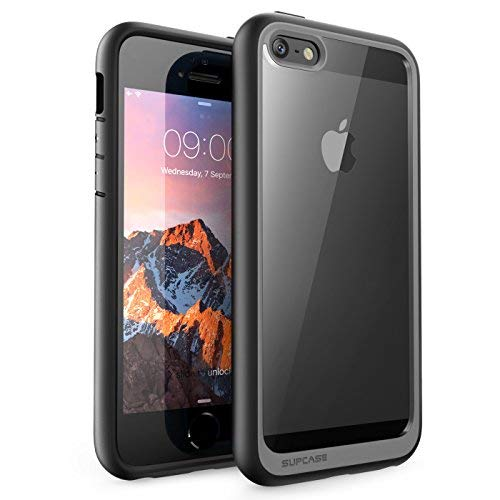 SUPCASE Hybrid Protective Clear Case for Apple iPhone SE/5S/5 (Black)