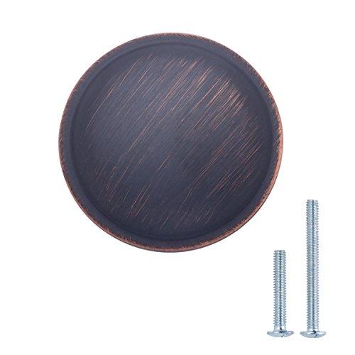 AmazonBasics - Schubladenknopf, Möbelgriff, stark gewölbt, Durchmesser: 3,02 cm, Geöltes Bronze, 25er-Pack