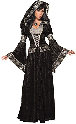 Forum Novelties 79011oscuro disfraz de hechicera, Reino Unido tamaño 10–14