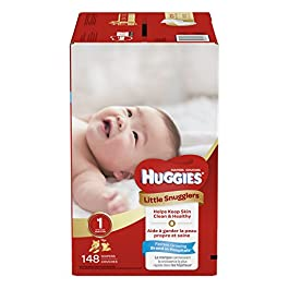 Huggies Little Snugglers Baby Diapers, Size 1, 148 Count, GIANT PACK (Packaging May Vary)