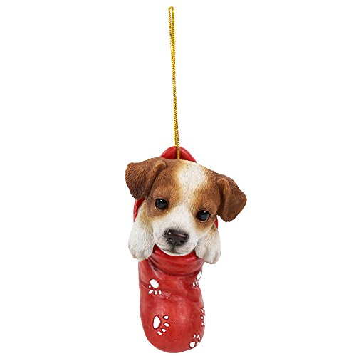 Pacific Giftware Jack Russell in Holiday Sock Decorative Holiday Festive Christmas Hanging Ornament
