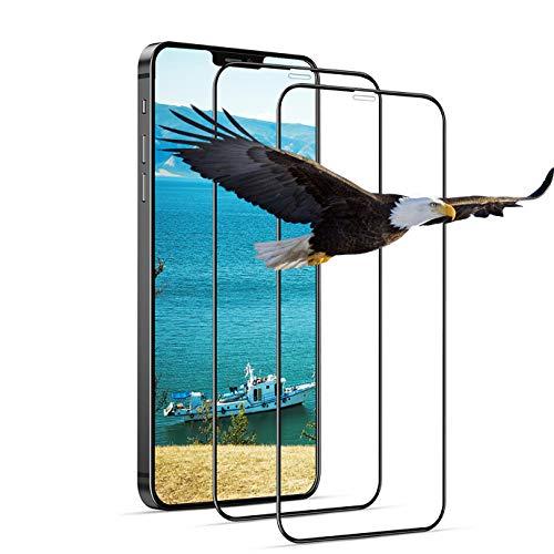 iPhone 12 / iPhone 12 pro 用 ガラスフィルム 6.1インチ 全面保護フィルム【2枚セット】全面吸着 硬度9H 強化ガラス 透過率99.9% 気泡ゼロ 指紋防止 飛散防止 キズ防止 iPhone 12 用 ガラスフィルム iPhone 12 pro 用 フィルム 優れたタッチ感度