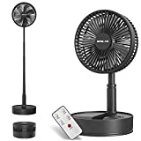 OPOLAR 8-Inch Rechargeable Battery Operated Foldaway Fan, Remote Control, Oscillating, Timer,...