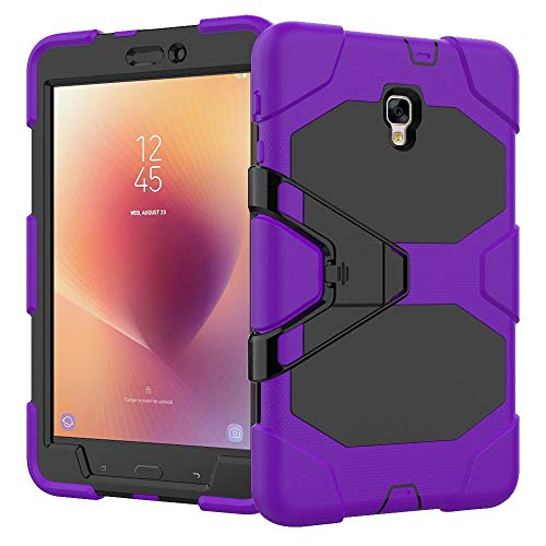 RZL PAD & TAB cases For Samsung Galaxy Tab A 8.0, Shockproof Kickstand Protective Case Shock Proof Heavy Duty Silicone Tablet Cover For Samsung Galaxy Tab A 8.0 SM-T380 T385 2017 (Color : Purple)