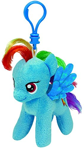 Carletto Ty 41105 - My Little Pony Clip - Rainbow Dash, Plüschtier, 10 cm