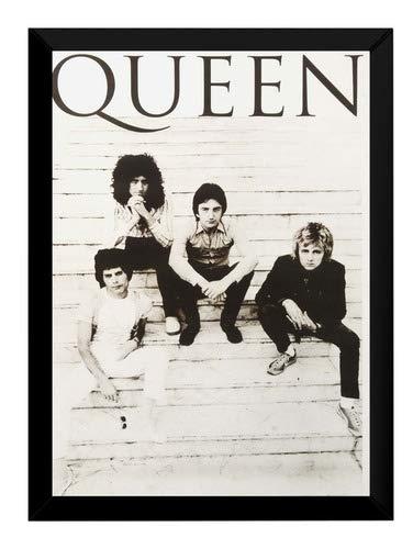Quadro Banda Queen Rock Moldura 42x29cm