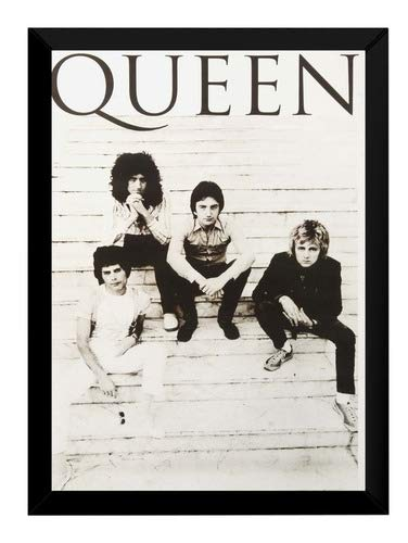 Quadro Banda Queen Rock Moldura 42x29cm