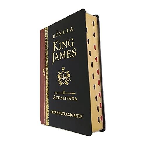 Bíblia King James Atualizada Letra Ultra Gigante Luxo Preta Índice