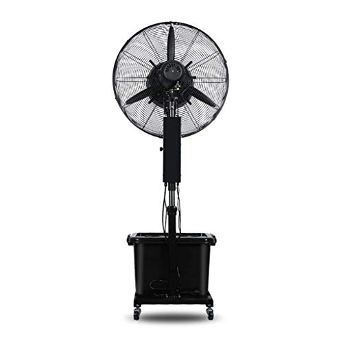 NSYNSY Turmventilatoren Sockel Leistungsstarker Ventilator Bodenventilator Oszillierend Einstellbarer Nebel Wasser hinzufügen Lautlos Fabrik Schwarz Kühlleistung 350 W Einstellung 3 Gangeinstellung
