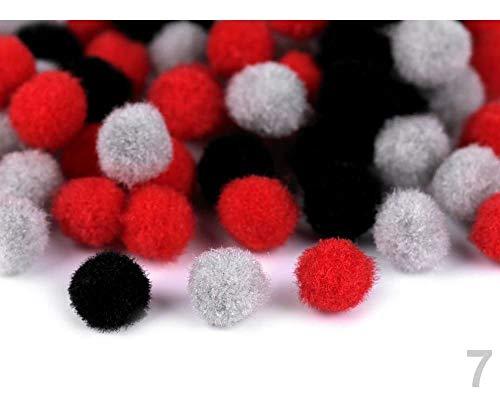 1tüte 7 Rot Bommel Farbenmix Ø10mm, Verzierungen Für Kleidung, Schuhe Und Zubehör, Kurzwaren