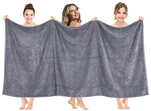 American Soft Linen 40x80 Inch Premium, Soft & Luxury Ringspun Cotton 650 GSM Oversized Turkish Bath Towel Sheet for Maximum Softness & Absorbent [Worth $64.99] - Dark Grey