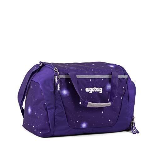 ergobag Sporttasche Bärgasus Glow, Galaxy Glow Edition, wasserdichtes Seitenfach, Tragegriffe und Umhängegurt, 20 Liter, 500 g, Lila Galaxie Glow