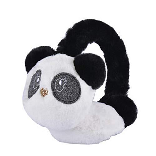 Armweqd Winter-Ohrenschützer Winter-Fall-Warme Künstliche Nette Panda-Ohrenschützer-Mädchen-Dame Plush Earmuffs Women
